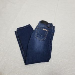 Hudson Girls Dark Washed Distressed Jeans SZ 6